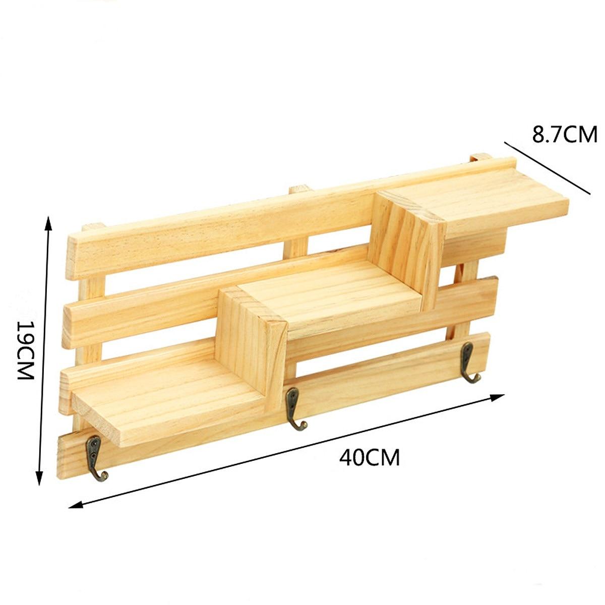 New 3 Colors Bedroom Wall Shelves Original Wood Chic Rack Storage ...