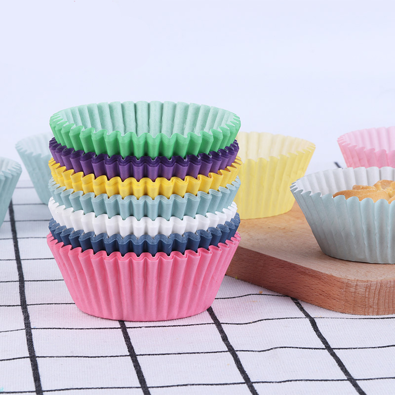 100Pcs Muffin Cupcake Paper Cups Mini Baking Mold Wedding Liner Wrappers Cases Tray Decoration Tool