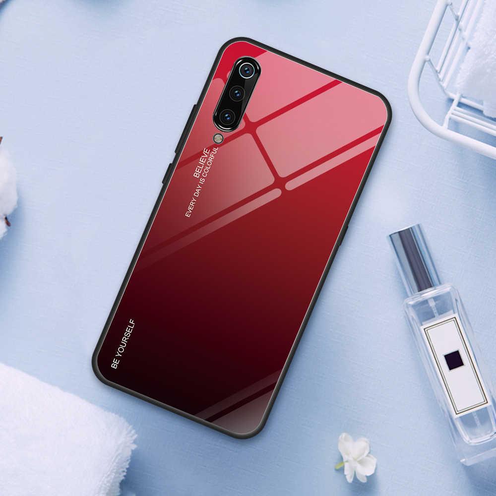 Luksusowe etui ze szkła hartowanego gradientu dla Xiao mi czerwony mi uwaga 7 Pro 5 Plus 6 etui na xiaomi mi 9 SE 8 Lite A2 mi Max3 mi X2S przypadku