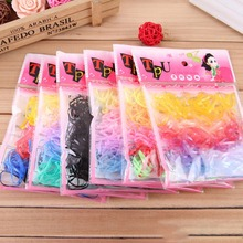 220 Pcs/lot Korean Candy Color Headwear Hair Ring Ropes Ponytail Holder Disposable Elastic Hair Bands for Girls Hair Accessories