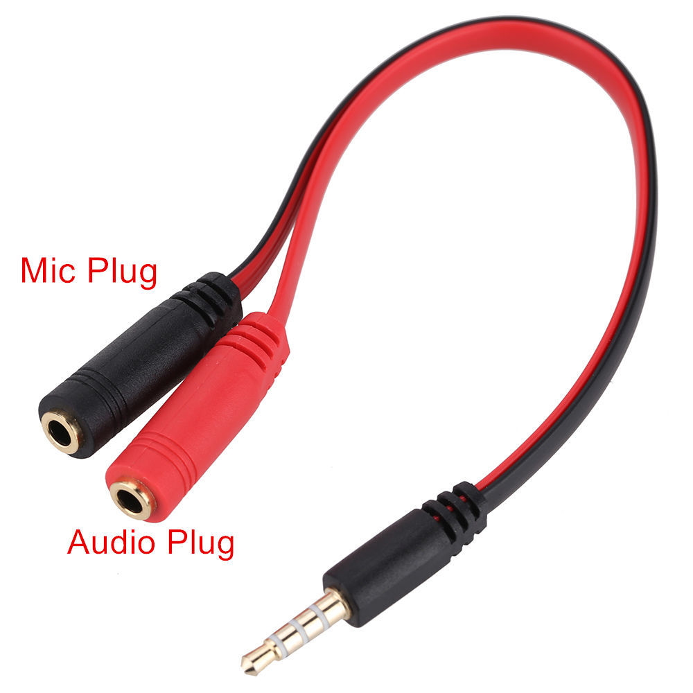 Wholesale 3.5mm Stereo Audio Male to 2 Female Y Splitter Mic Earphone Headset Jack Adapter Cable for Smartphone Tablet PC good sale 3 5mm stereo audio male to 2 female headset mic y splitter cable adapter free shipping jan 1