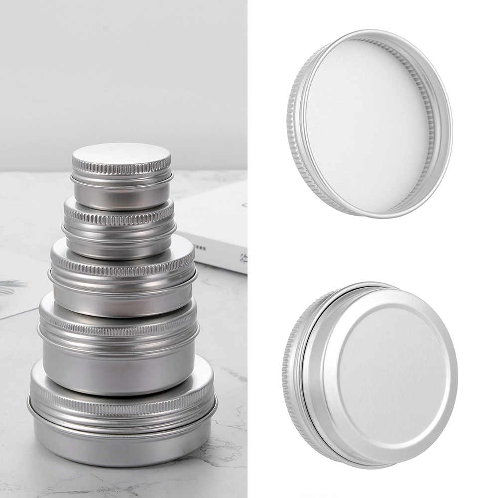 New Aluminium Bottles Sample Canisters Cap Makeup Oil Wax Box Reusable Packaging Can Tin Container Cosmetic Pot Jar Upper Screw