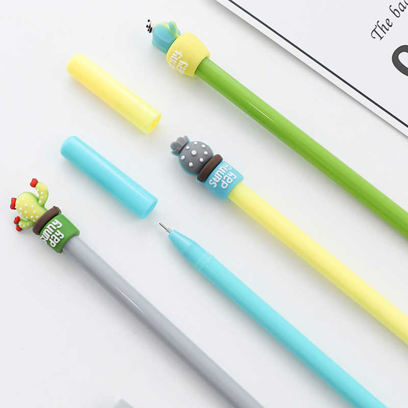 2019 new Cactus Pot Gel Pens Student gel Ink Pen School Office Supplies Learning Stationery Wholesale