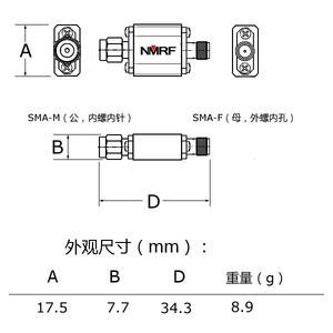 Image 4 - 1090MHz ADS B aviation frequency band Bandpass SAW filter with bandwidth 8MHz and SMA interface
