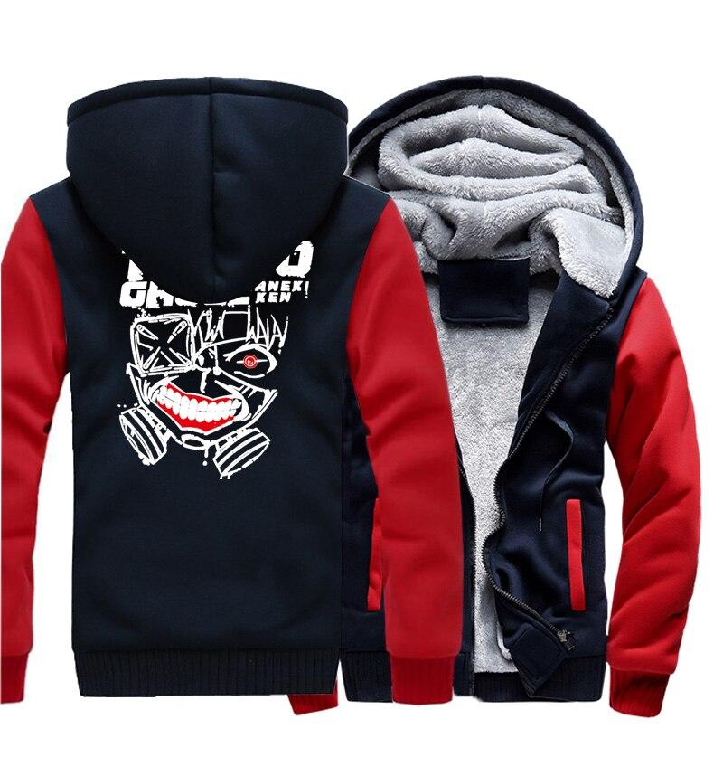 2017 Men's Sportswear Hoodies Print TOKYO CHOUL Anime Harajuku Hip Hop Brand Clothing Kpop Sweatshirts Mens Thick Hoody Zipper