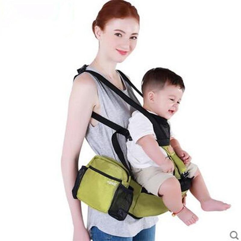 Newborn Holding Strap Baby Shoulder Carrier Hip Seat Multi-function Infant Backpack Sling Toddler Kangaroo Facing Carry Carriers