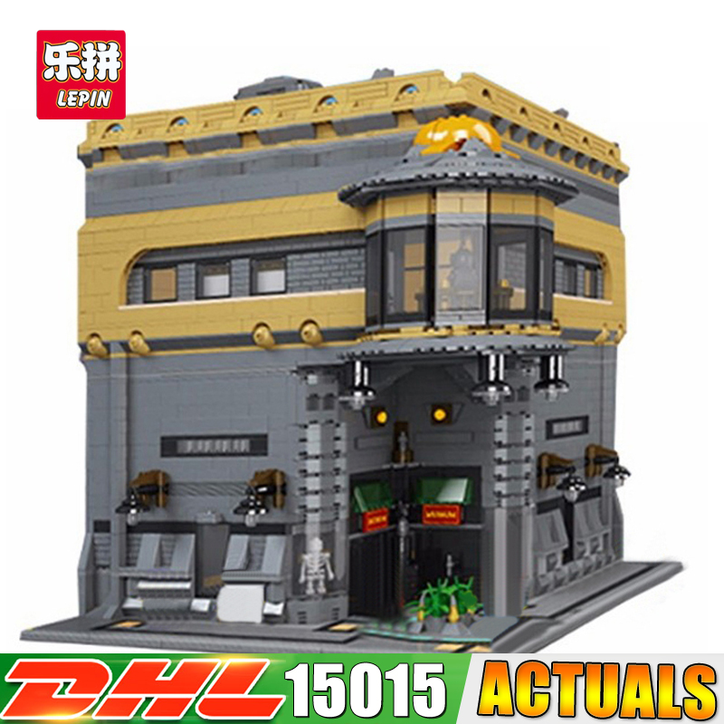 2017 Modular MOC LEPIN 15015 5003pcs City Street The dinosaur Museum Model Building Kits Set Blocks Brick Toy ynynoo lepin 02043 stucke city series airport terminal modell bausteine set ziegel spielzeug fur kinder geschenk junge spielzeug
