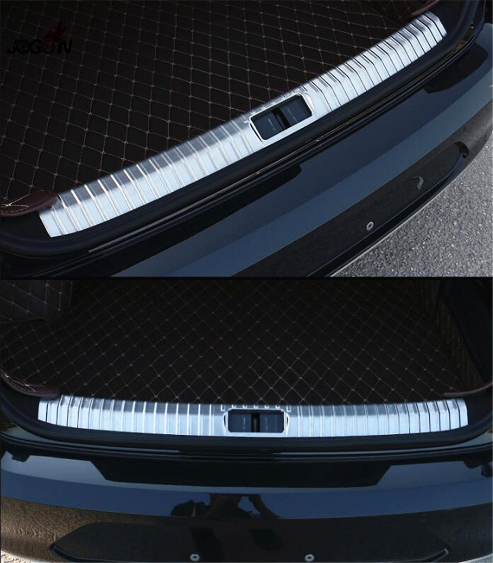 1pc Stainless Steel Car Inner Tail Trunk Rear Bumper Sill Plate Scuff Trim Cover Trim For VW Volkswagen Passat B8 2015 2016 stainless steel interior rear bumper protector sill rear trunk scuff plate trim for peugeot 408 2014 2015 car styling accessory