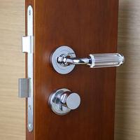 Italy can import imported spherical crystal door locks, new crystal, European bedroom door locks, indoor locks