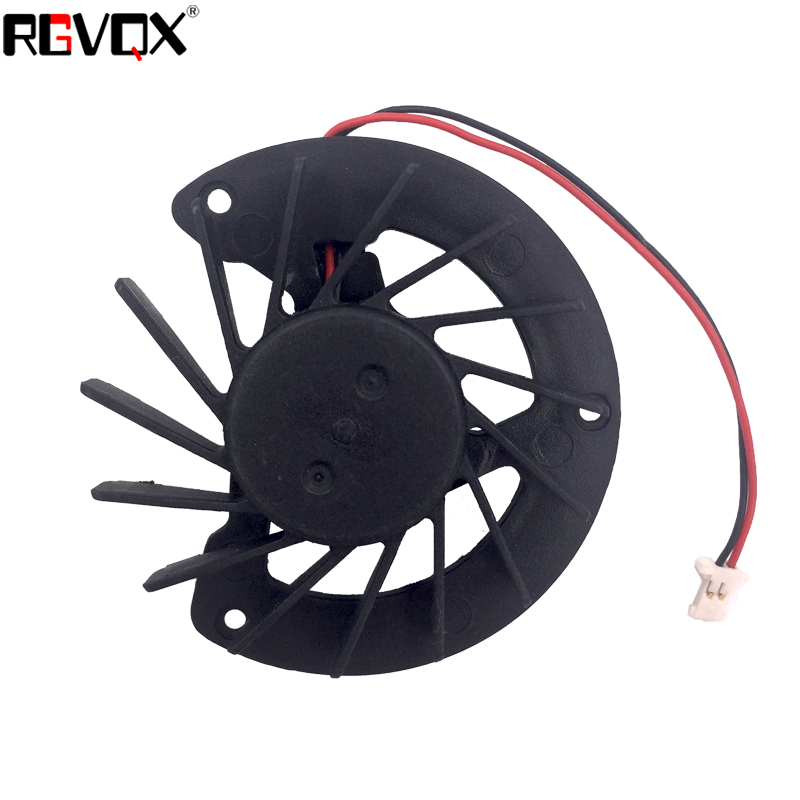 Купить с кэшбэком New Laptop Cooling Fan for HP DV4-1000 CQ40 CQ45 For AMD 2pin PN: AD5005HX-RC1 KSB0505HB AB7205HX-GC1 CPU Cooler Radiator