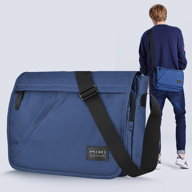 Mixi Fashion Men School Bag Boys Crossbody Satchel One Shoulder Bag Messenger Waterproof Big Capacity Designed for Youth M5177
