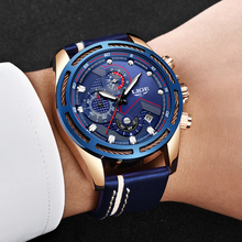 LIGE Mens Watches Top Brand Luxury Chronograph Date Quartz Watch Man Leather Sport Watch Men Waterproof Clock Relogio Masculino relogio masculino mens watches lige new top brand luxury automatic date quartz watch men military leather waterproof sport watch