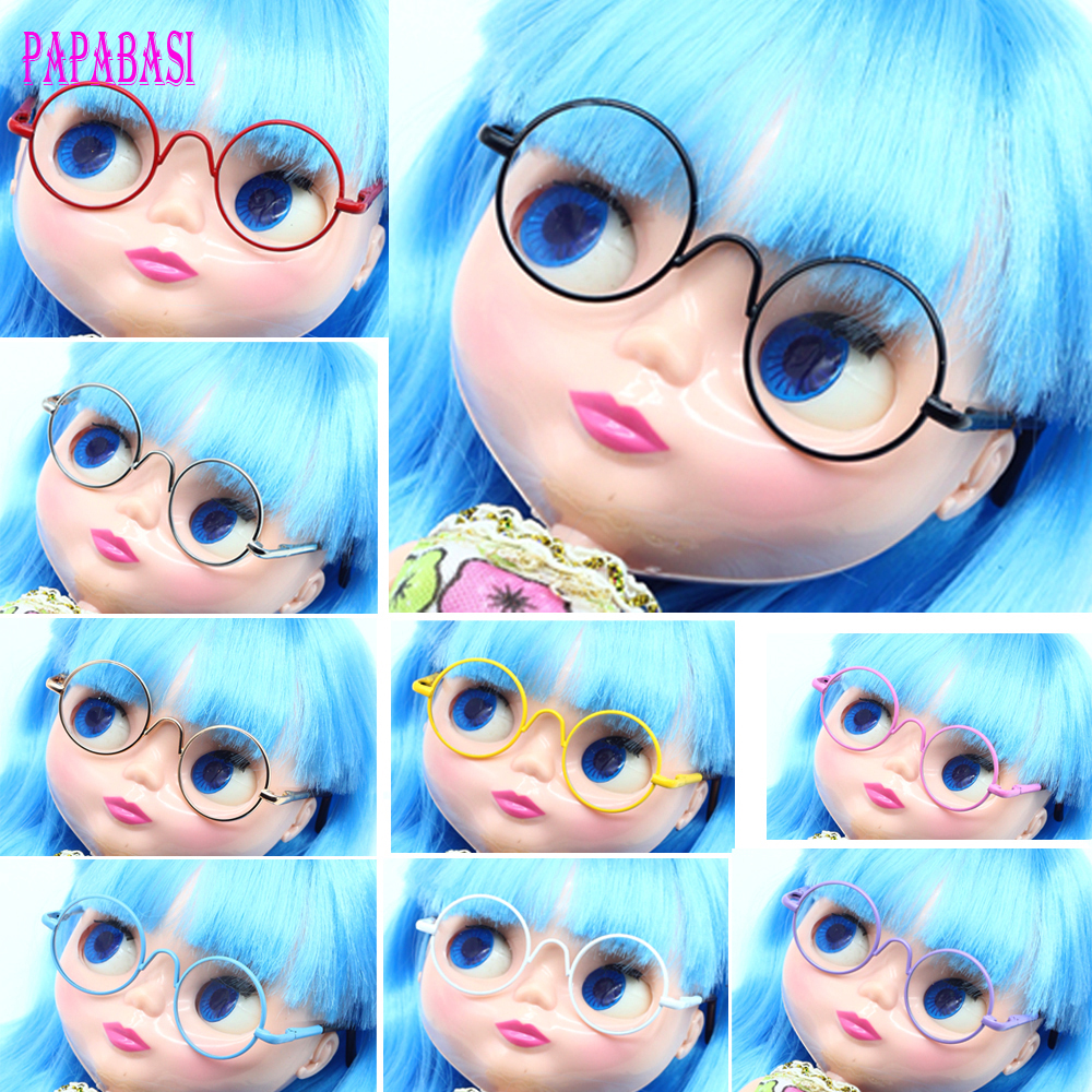 Doll Accessories Round-shaped Round Glasses Colorful Glasses Sunglasses Suitable For Blythe 1/6 1/3 1/4 Doll