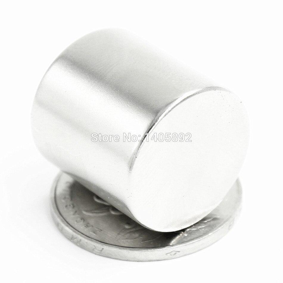 2pcs Super Powerful Strong Bulk Small Round NdFeB Neodymium Disc Magnets Dia 20mm x 20mm N35  Rare Earth NdFeB Magnet 2pcs bulk strong ndfeb countersunk block magnets 40mm x 40mm x 20mm with single hole n35 neodymium square cuboid magnet
