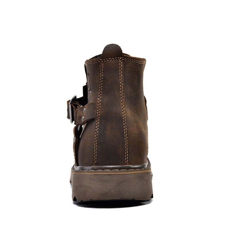 ZSUO mode en cuir véritable hommes bottes printemps chaud hiver bottes hommes de haute qualité respirant Cowboy bottes hommes chaussures Botas - 5