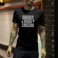 EnjoytheSpirit Geek T Shirt SMART DUDE INSIDE Funny Birthday T Shirt Smart Dude Gift Humorous Tee
