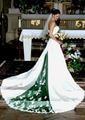 2017 Cheap White Green A-line Wedding Dresses Appliques Bridal Gown robe de mariage gelinlik casamento hochzeitskleid brautkleid