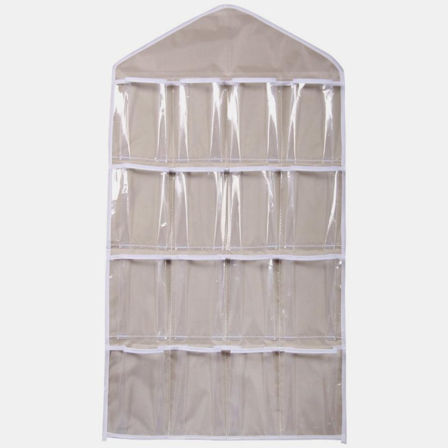 822444fa5f1 16 Pockets 78*42cm Household Clear Hanging Bag Socks Bra Underwear Rack  Hanger Storage Organizer