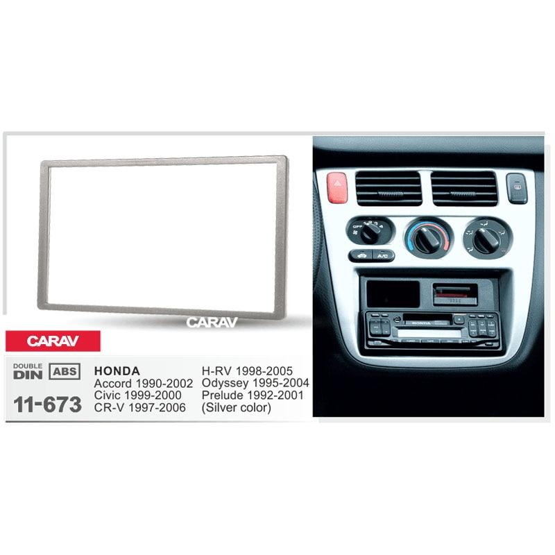 Carav 11 673 Double Din Car Radio Frame Fscia Dash Kit Fit