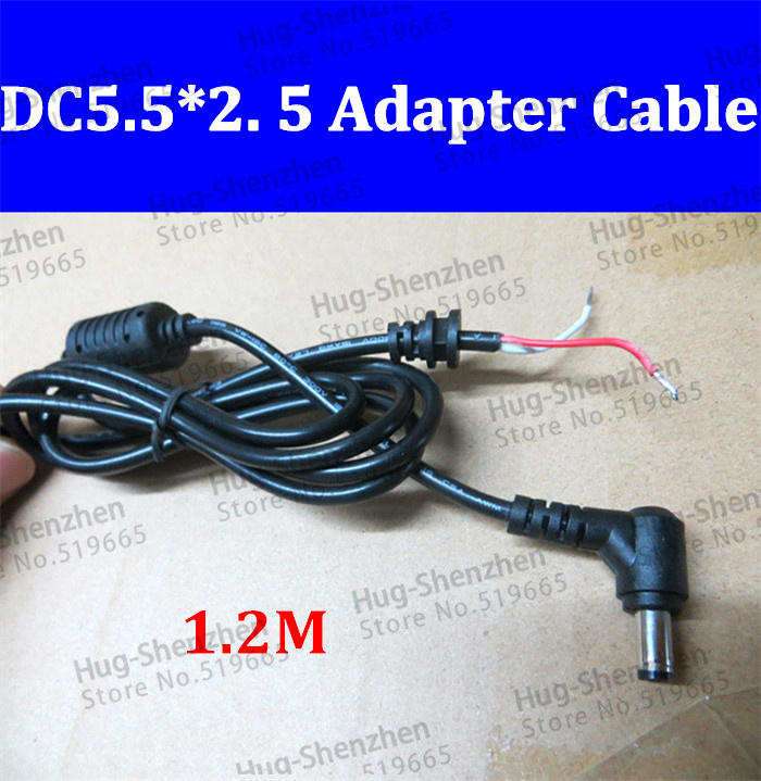 DC 5.5x2.5mm L-shaped Right Angle power plug connector cord For Toshiba LENOVO Asus ect. Laptop Adapter cable 1.2 M