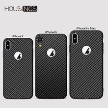Luxury Carbon Shockproof Fiber Phone Case For iPhone 7 8 plus XR XS Max Soft TPU Back Cover For iPhone Xs X 8 7 6 6s Plus Coque цена и фото
