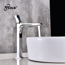Bronze Deck mounted Faucets  Single Handle Hole Bathroom Sink Faucet Simple Fashion Hot Sale Face Pool Hot&Cold