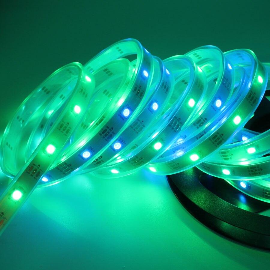 5M DC5V RGB Led Strip Light WS2812 SPI 30/60LED IP20/IP67 Waterproof ...
