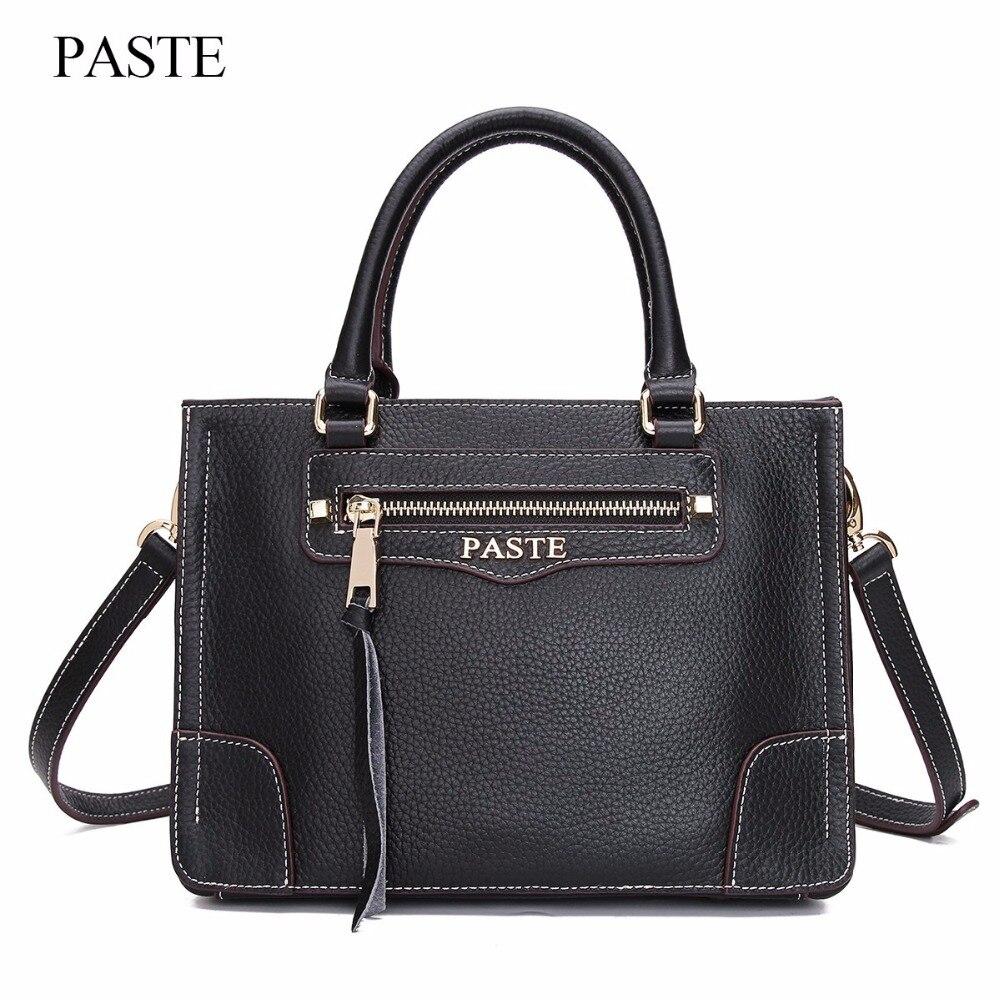 купить New Arrival 2017 Brand Genuine Leather Women Handbag Embossed Soft Leather Shoulder Bag Vintage Solid Zipper Women Tassel C326 по цене 3228.49 рублей