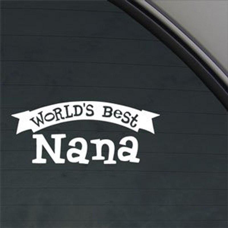 """2 Stück 8 """"welt Der Beste Nana Aufkleber Auto Aufkleber Pvc Vinyl Aufkleber Fenster Aufkleber Gestanzte Vinyl Aufkleber Aufkleber Für Laptop, Lkw,"""