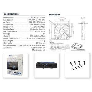 Image 5 - Alseye pc冷却ファン120ミリメートルファン12v pwm 4pinクーラー (3ピース/ロット) シリコーンサイレントファンpcケース/cpuクーラー