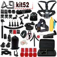 A9 For GoPro accessories Set Family Kit Go Pro SJ4000 SJ5000 SJ6000 accessories package for GoPro HD Hero 2 3 4 5 xiaomi yi