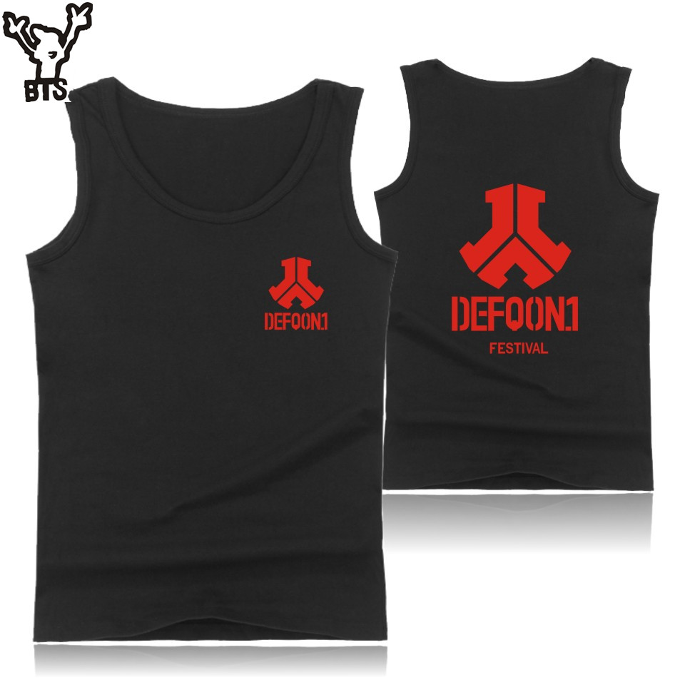 kpop Defqon 1 Sleeveless   Tank     Top   Men Summer Casual Electronic Music Fashion Bodybuilding   Tank     Top   Hip Hop Rock Streetwear Vest