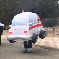 Customized popular funny adults move walking inflatable car costumes for advertising