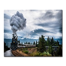Old-Fashioned Smoke Train On the Road Pictures By Numbers Linen Canvas DIY Oil Painting Kits Coloring HandPainted Decor Wall