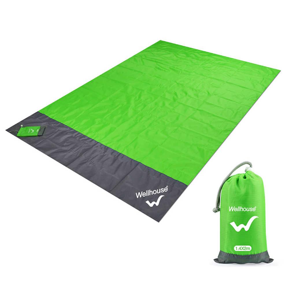 비치 담요 휴대용 야외 캠핑 매트 방수 피크닉 매트 지상 아기 슬리핑 매트리스 Foldable Moistureproof 텐트 매트