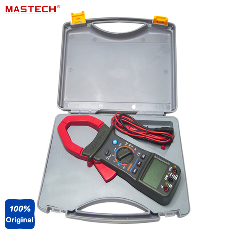 MASTECH M9912 3200 Counts Autoranging AC DC Clamp Meter Voltage Current Resistance Frequency Tester auto digital clamp meter mastech ms2108a pincers ac dc current voltage capacitor resistance tester aimometer multimeter amper