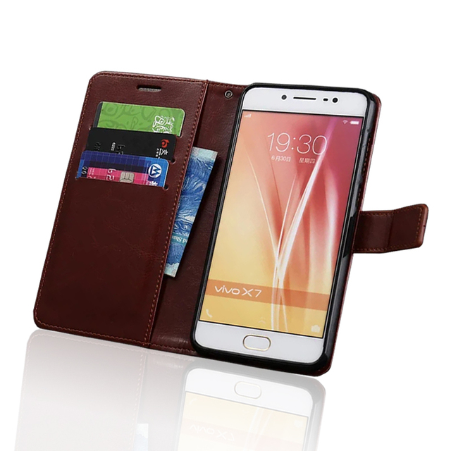 High Quality Leather Case For BBK Vivo X7 X7 Plus Leather Case Flip Cover for BBK Vivo X7 Case Business Wallet Style Case