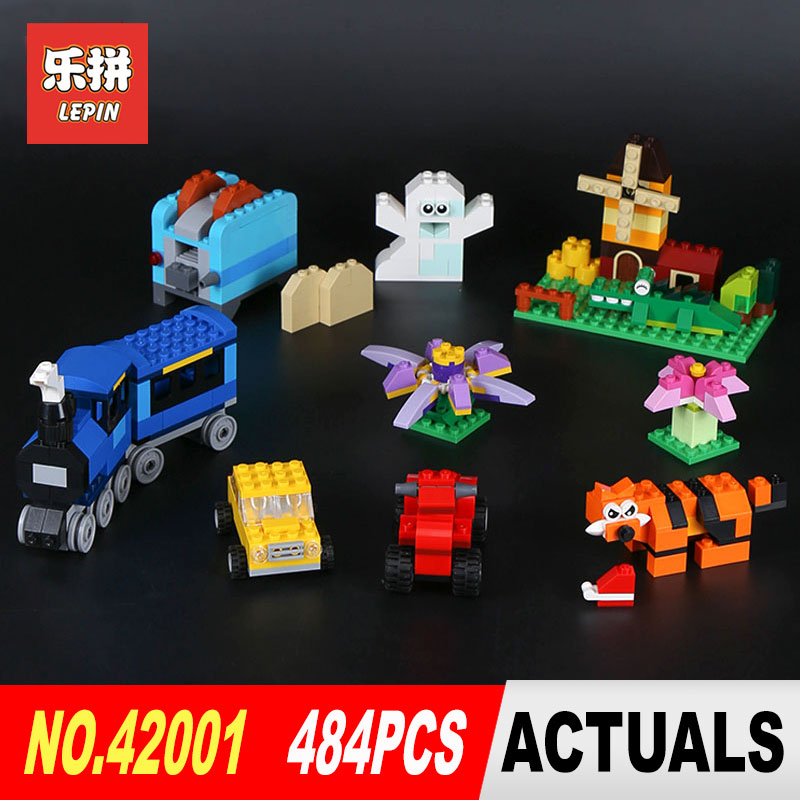 484Pcs Lepin 42001 Genuine Creative City Series The Medium Brick Box 10696 Builing Blocks Bricks DIY Educational Toy Model Gift lepin 42010 590pcs creative series brick box legoingly sets building nano blocks diy bricks educational toys for kids gift