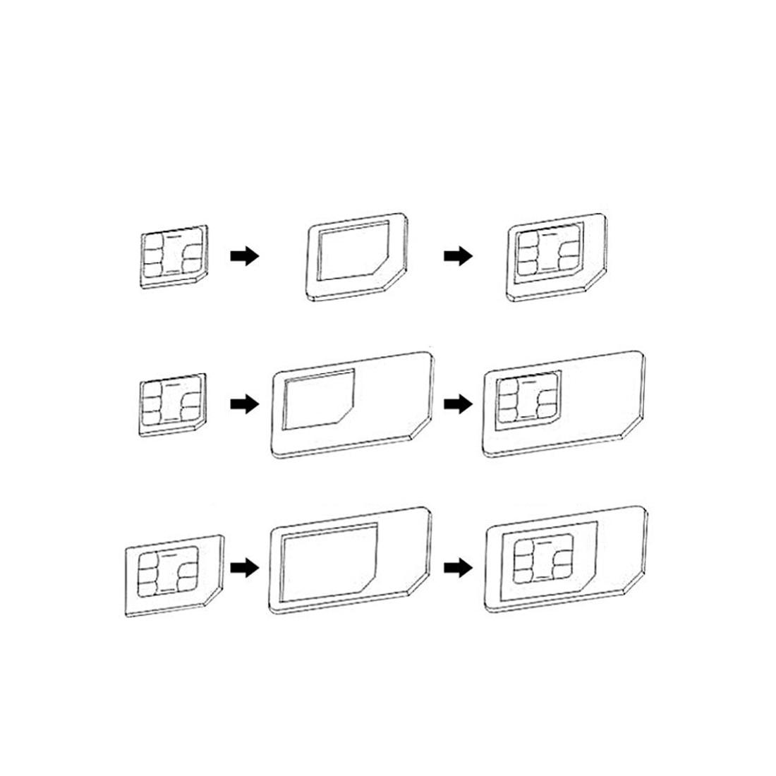 5 In 1 Sim Card Adapters Regular Amp Micro Sim Standard