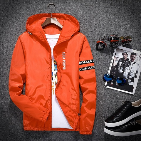 2018 Spring Autumn New Fashion Slim Fit Young Men Hooded Jacket Thin Jackets Brand Casual Windbreaker Top Quality Islamabad