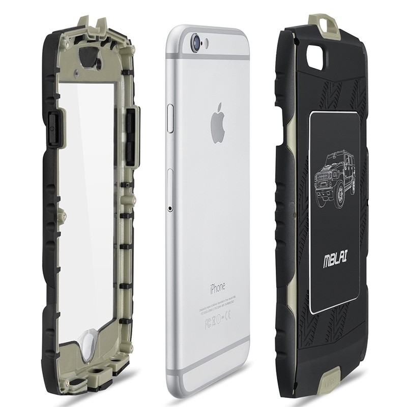 best sneakers 4a48a a4a20 US $13.5 |MBLAI Heavy Duty Armour Case for iPhone 6 6s Shockproof Cover  with Built in Screen Protector Full Body Protection-in Fitted Cases from ...