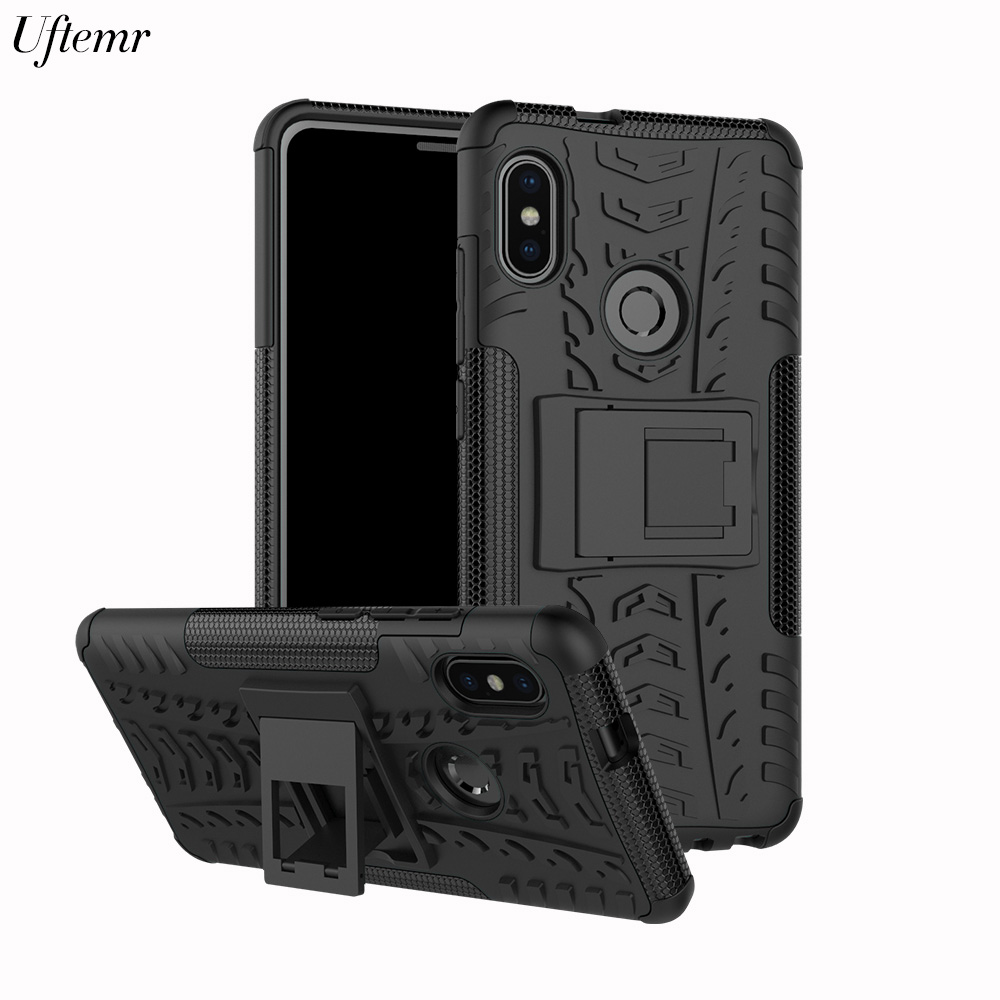 Uftemr Phone Case For Xiaomi Note 5 Pro 2 in1 Silicon Hard Plastic shockproof Armor Back Cover for Redmi Note 5 Global Version