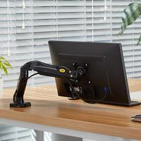 17'' 27'' Desktop LED Monitor Holder NB F80 Computer Screen Monitor Mount Stand Full Motion Swivel Arm Gas Spring 4.4 14.3lbs