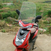 415*415*3mm Plexiglass motorcycle wind deflector motorcycle windshield scooter windshield with Mounting bracket