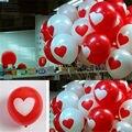 12Pcs Heart Printed Latex Balloons Home Room Wedding Party Birthday Decoration