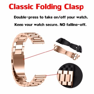 Image 4 - Samsung Galaxy 46mm/ 42mm Stainless Steel Watch Band Strap Quick Release Pins for Gear Sport S2 S3 Frontier / Classic 20mm/22mm