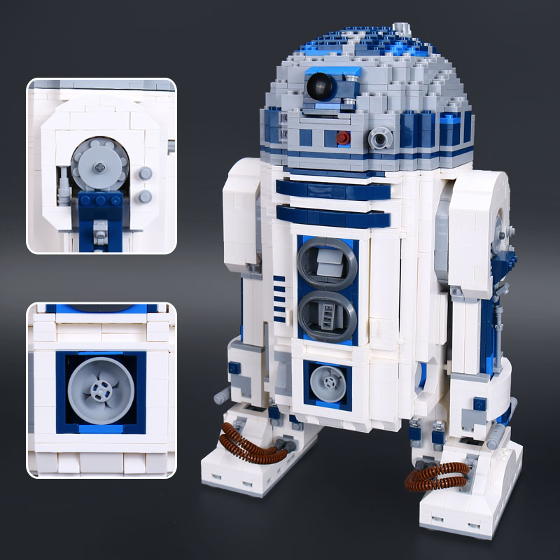 IN STOCK Lepin 05043 Star plan 2127Pcs The R2-D2 Robot Set Out of print Model Building Blocks Bricks Toys Christmas gift 10225 new 2127pcs lepin 05043 star war series r2 d2 the robot building blocks bricks model toys 10225 boys gifts