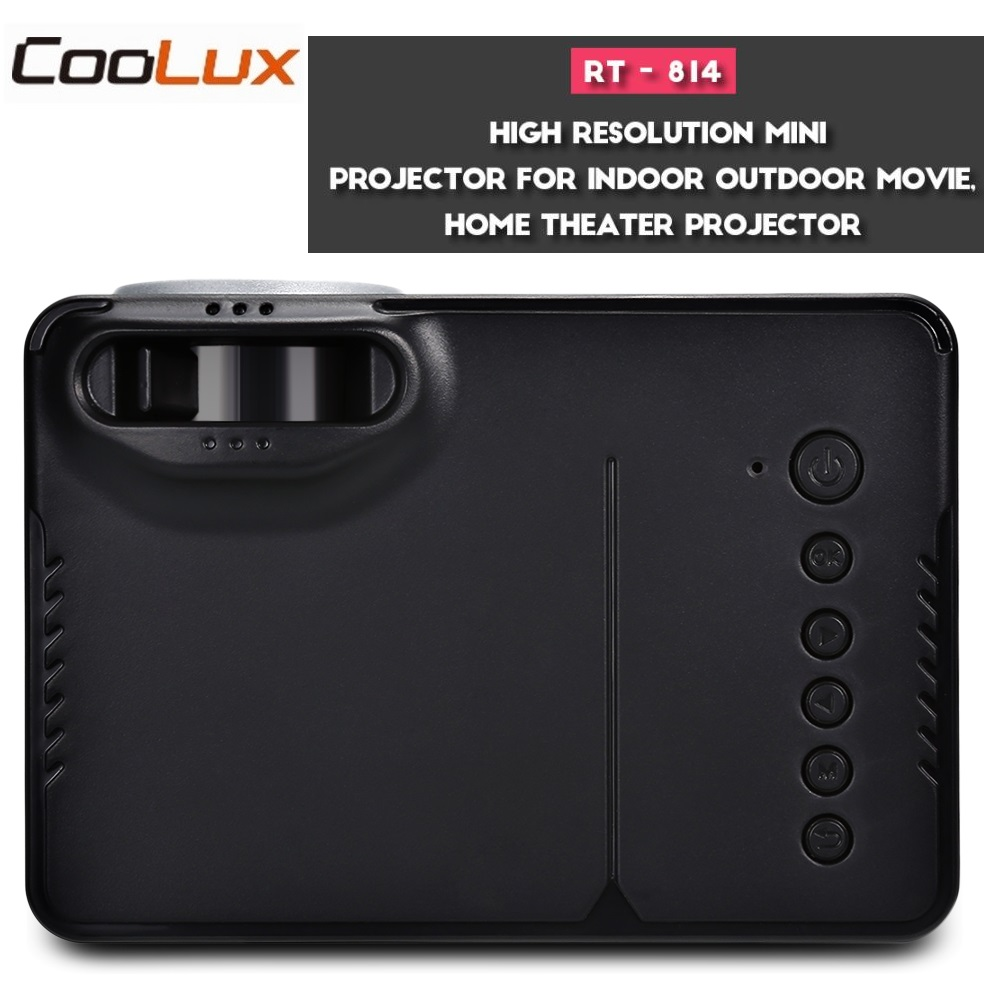 COOLUX RD-814 Mini Projector 320 x 240 LED Home Theater Projector 1080P Portable VS YG300 Perfect for Movie Game EU US Plug