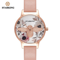 STARKING Watch BL1022 Hot Stainless Steel Ladies Pink Watch Elegant Fashion Women Quartz Watch Relogio Feminino 30M Waterproof