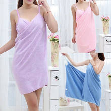 2019 New Home Textile Towel Women Robes Bath Wearable Towel Dress Womens Lady Fast Drying Beach Spa Magical Nightwear Sleeping(China)